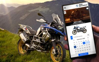 """BMW Motorrad continua con l'espansione della piattaforma di noleggio """"Rent a Ride"""""""