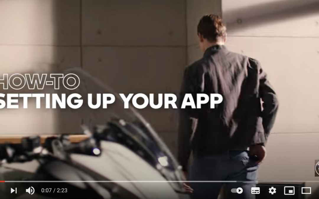 VIDEO BMW MOTORRAD CONNECTED APP